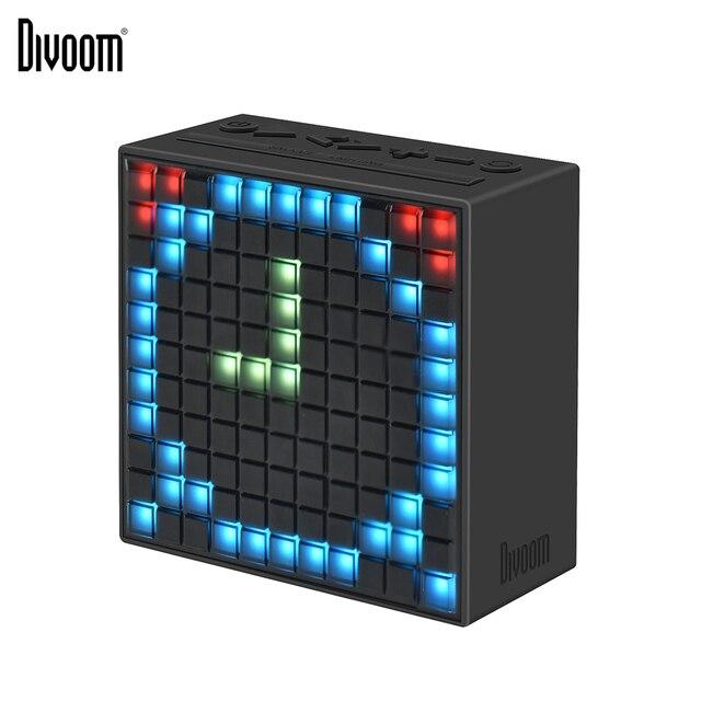 Divoom מוסת הזמן Bluetooth אלחוטי 4.0 חכם שעון מעורר ונייד רמקול עם FM רדיו תואם עם IOS אנדרואיד xiaomi