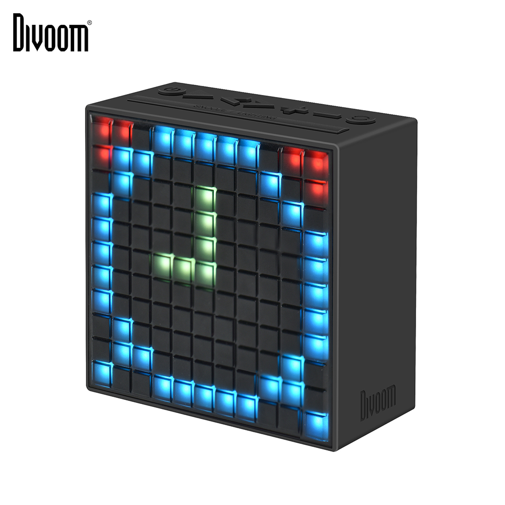Divoom Timebox Bluetooth Wireless 4.0 Intelligenter Wecker und tragbarer Lautsprecher mit UKW-Radio, kompatibel mit IOS Android xiaomi