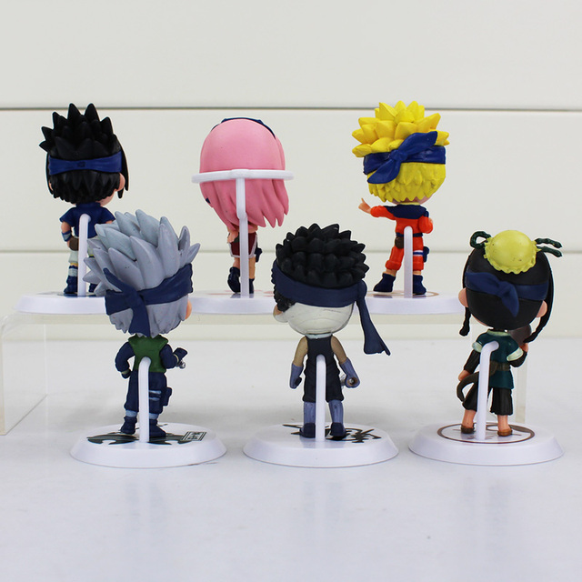 "6 Pcs Naruto Action Figure Model Figurine 3""7cm"