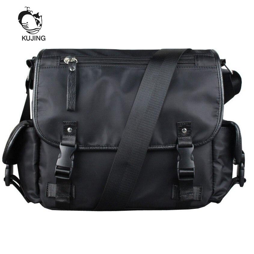 KUJING Fashion <font><b>Handbags</b></font> Hot Men And Women Shoulder Messenger Bag Cheap Student Bags High Quality Shopping Travel Leisure Package