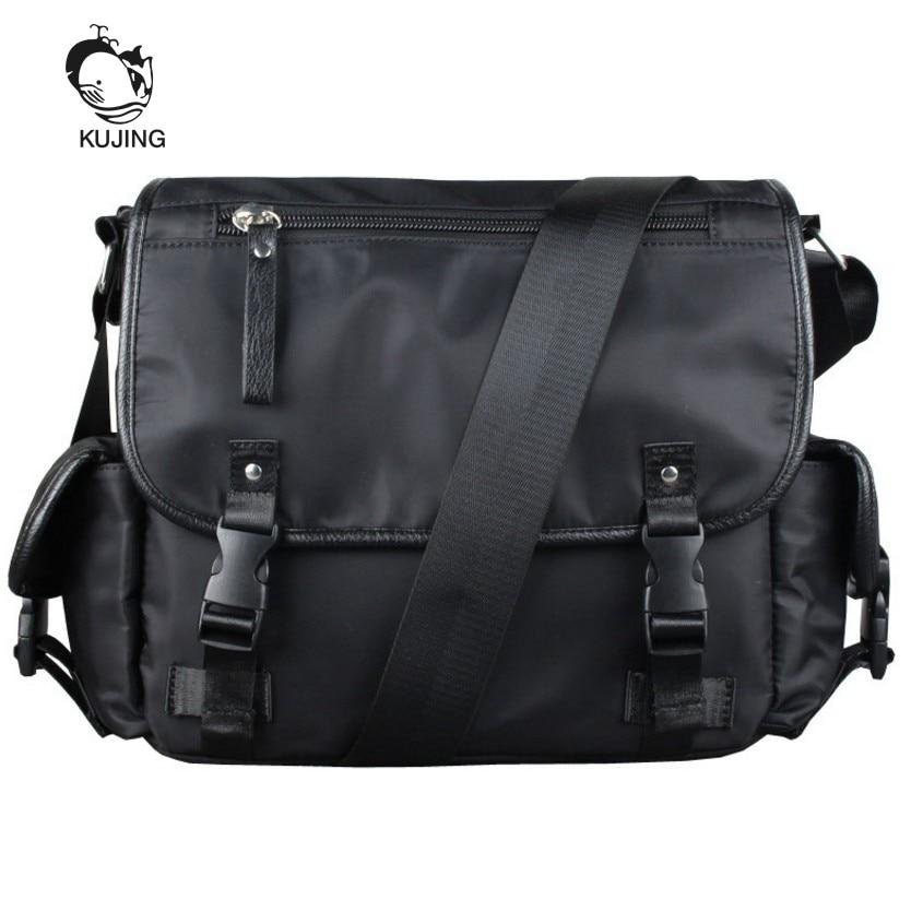 KUJING Fashion <font><b>Handbags</b></font> Hot <font><b>Men</b></font> And Women Shoulder Messenger Bag Cheap Student Bags High Quality Shopping Travel Leisure Package