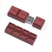 حار الشوكولاته متعة محرك فلاش USB بندريف 16 جيجابايت 64 جيجابايت 32 جيجابايت 4 جيجابايت 8 جيجابايت ذاكرة فلاش القلم محرك عصا ذاكرة عصا هدية الموضة لطيف