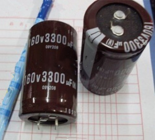 Free Shipping 10pcs 3300UF 160V  30*50MM  Aluminum Electrolytic Capacitor 160v3300uf-in Capacitors from Electronic Components & Supplies    1