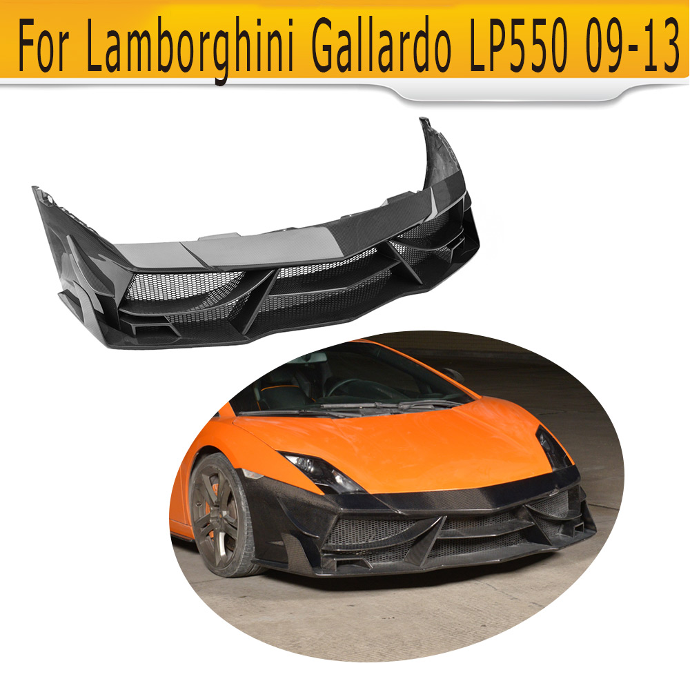 Carbon Fiber Front Bumper Lip Spoiler Case for Lamborghini Gallardo Coupe Convertible LP550 LP560 LP570 LP560-4 LP570-4 09-13