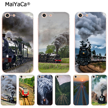 MaiYaCa train-going-uphill soft tpu phone case cover for iPhone 8 7 6 6S Plus X XS MAX XR5S 12pro SE 11 11pro max Cases image