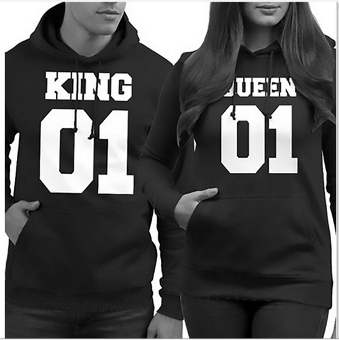 King Queen Sweatshirt Women Valentine 39 s Day Hoodies Rose Love Streetwear Oversized Hoodies Clothing Plus in Hoodies amp Sweatshirts from Women 39 s Clothing