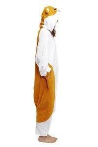 Image 4 - BIKIRUB とっとこハム太郎ハムスターパジャマ大人フリースフード付きパジャマパジャマ 2019 女性のかわいい漫画動物パジャマセット冬のホームウェア