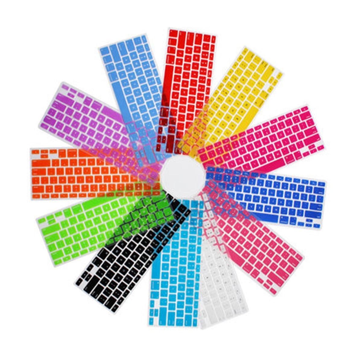 freeship EU/UK Layout English Colorful Silicone Protection sticker Keyboard Skin for 12' inch apple Mac Macbook/Macbook12