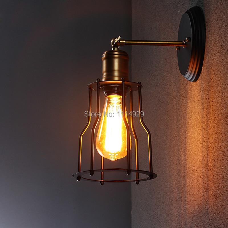 Ձեղնահարկ Vintage պատի լամպ Ամերիկյան - Ներքին լուսավորություն - Լուսանկար 2