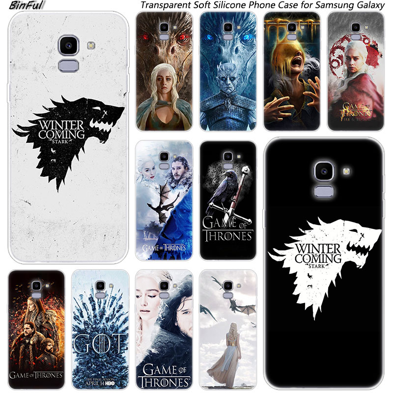 Game of Throne conquest Soft Silicone Phone Case For Samsung Galaxy J8 J6 J4 2018 J2 Core J5 J6 J7 Prime J3 2016 2017 EU J4 Plus image