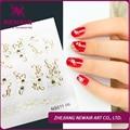 A Estrenar de Oro Etiqueta Engomada Del Clavo Rhinestone/Cristal Piedra de Uñas Metallic Decal Sticker White Flower Nails Pegatinas Envío Gratis