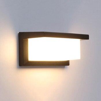 Современный светодиодный настенный светильник алюминиевый открытый водонепроницаемый настенный светильник садовый крыльца патио в сторо...