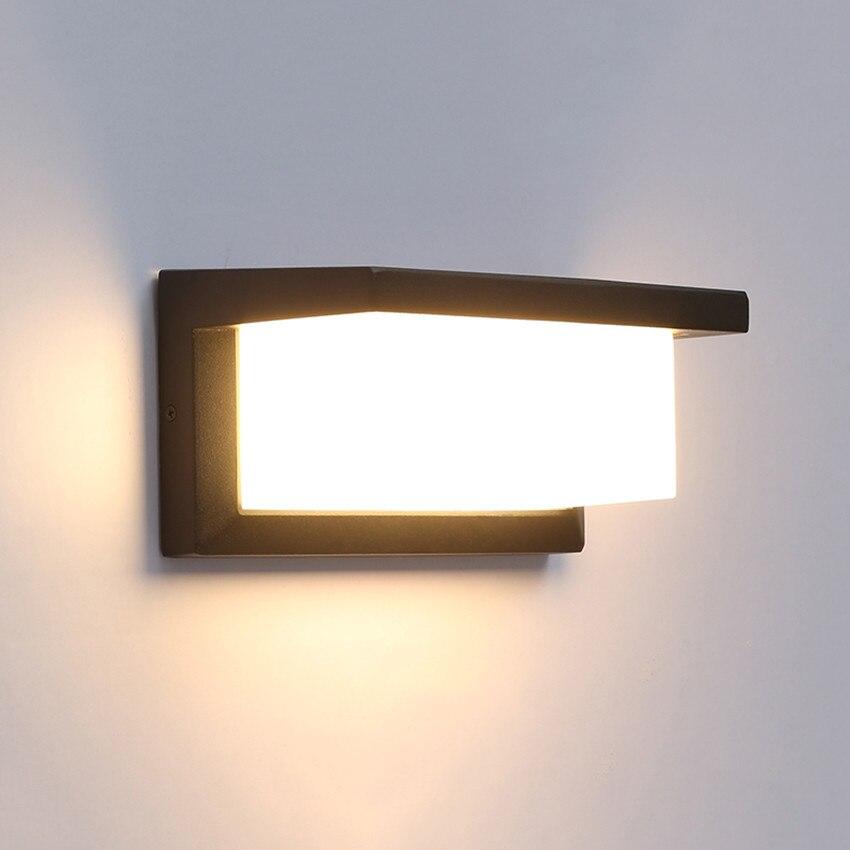 moderno levou parede de luz de aluminio lampada de parede impermeavel ao ar livre jardim varanda