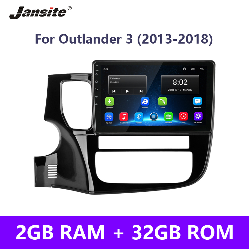 Jansite Car-Radio Multimedia-Player Frame Touch-Screen Android Mitsubishi Outlander 0