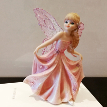 Pink flower fairy ornaments home accessories angel princess decoration furnishings Fairy garden girl birthday gift