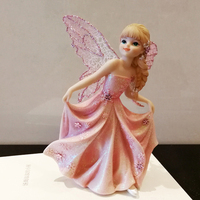 Pink flower fairy ornaments home accessories angel princess decoration furnishings Fairy garden decoration girl birthday gift