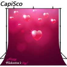 Capisco photography backdrop Love heart red Valentine's Day baby shower children background photo studio photocall(China)