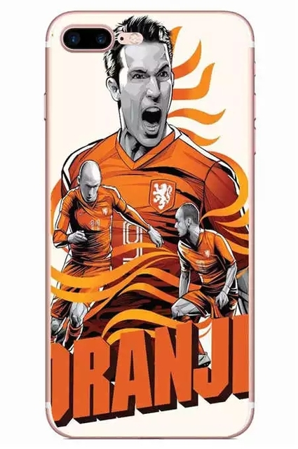 World Cup Soccer Star Cartoon Players Soccer Doggy Pattern Back Cover Soft TPU Phone Case for iPhone 4 4S SE 5 5S 6 6S 7 plus