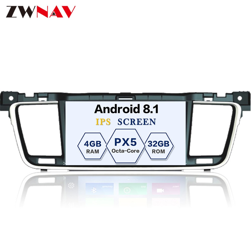 Android 8.1 PX5 8 Core ROM 32GB RAM 4GB Car GPS Navigation No DVD Player For PEUGEOT 508 2011-2014 radio stereo unit car 2 din android 8 0 gps for citroen c4 air cross peugeot 4008 autoradio navigation head unit multimedia 4gb 32gb px5 8 core