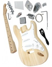 цены Free shipping selectric guitar kit/unfinish guitar/Diy electric guitar with basswood body