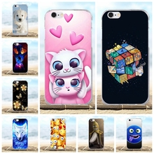 For iPhone 6 Case 3D Pattern Funda For iPhone 6S Case Silicone Soft TPU Back Cover Bumper Bags For Apple iPhone 6 6S Phone Cases цены