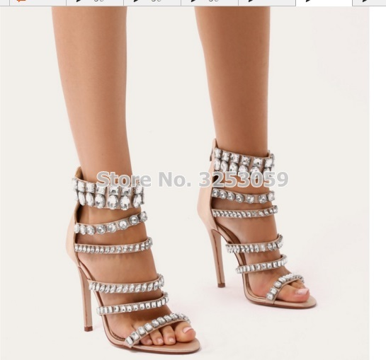 ALMUDENA/Великолепная Свадебная обувь черного и бежевого цвета с перекрестными ремешками и сверкающими кристаллами; блестящие туфли лодочки с... - 6