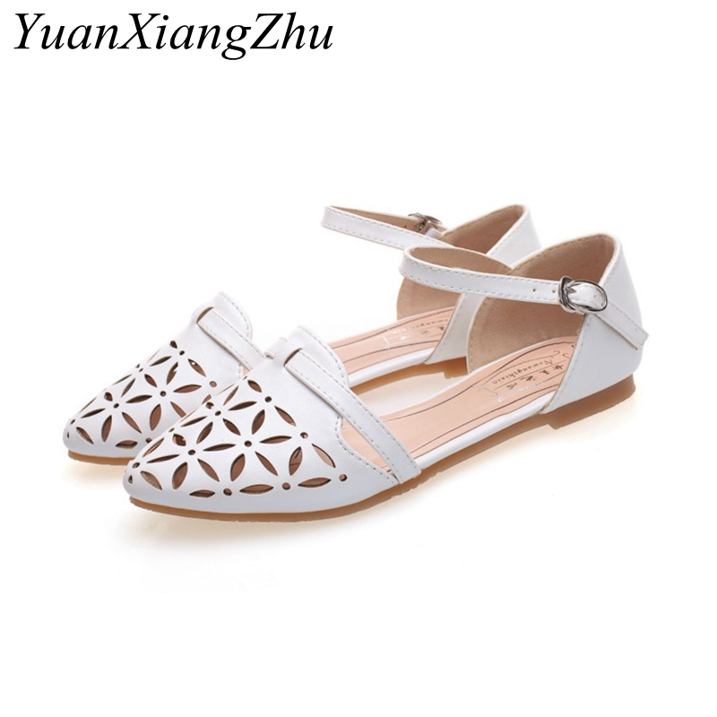 Summer Hollow Flat Women Sandals 2018 Brands New 33-45 Plus Size Women Sandals Fashion Womens Casual Rome Style Sandalias HOT недорго, оригинальная цена