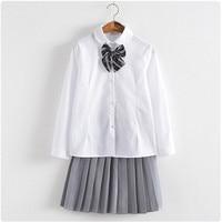 2017 Hot Coreano Serviço de Classe Estudantes Uniformes Trajes Cosplay Menina Da Escola Japonesa Uniforme Camisa OY-JK002