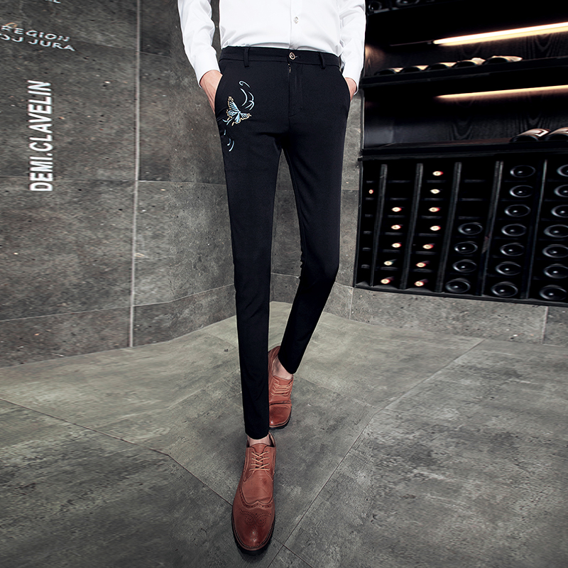 2018 New Hairstyle Hairdressers Pants Men South Korean Plate