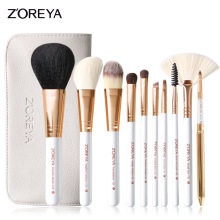 Makeup Brushes 10pcs Rose Gold Make Up Brush Set Foundation Eye Shadow Eyeliner Lip Brush Kits With PU Leather Bag Best Quality