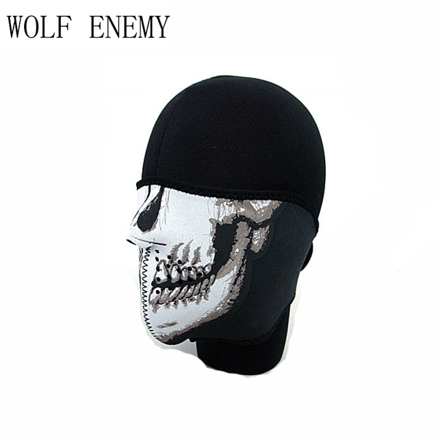 Hot Sale Navy Seal Army Skull Neoprene Half Face Tactical Military Protector Mask Hiking Scarves