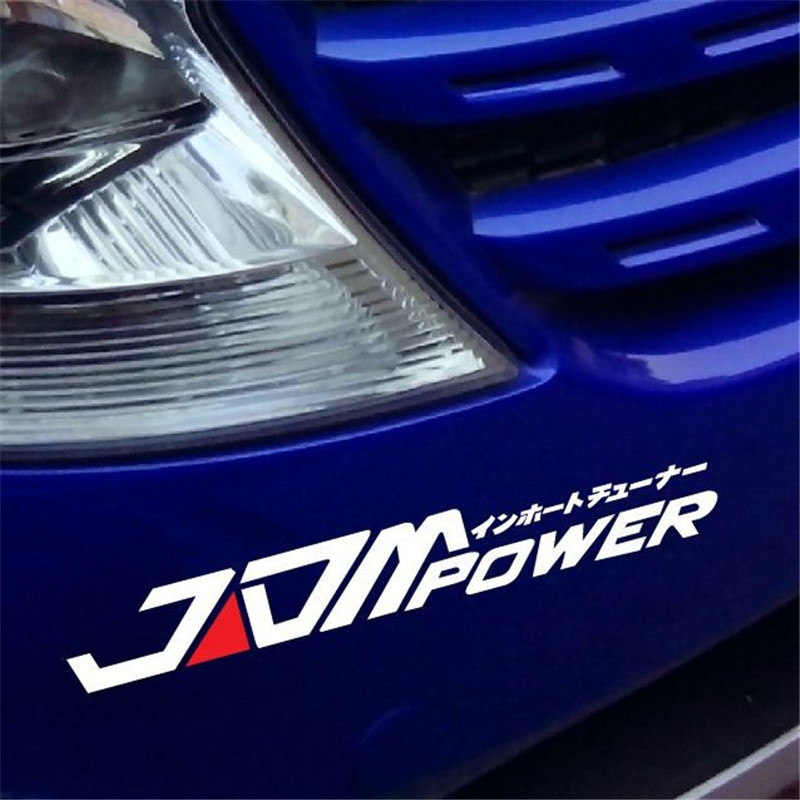Jdm power funny car sticker reflective waterproof window bumper decal vinyl for opel volkswagen renault peugeot bmw audi skoda in car stickers from