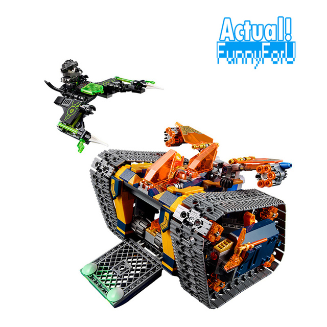 New Lepin Nexo Knights Axl's Rolling Arsenal 14042 Building Blocks Bricks  Toys for Children Compatible with