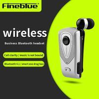 FineBlue Hot Original F920 Wireless Auriculares Driver Bluetooth Earphone Call Remind Vibration Wear Clip Bluetooth Headset