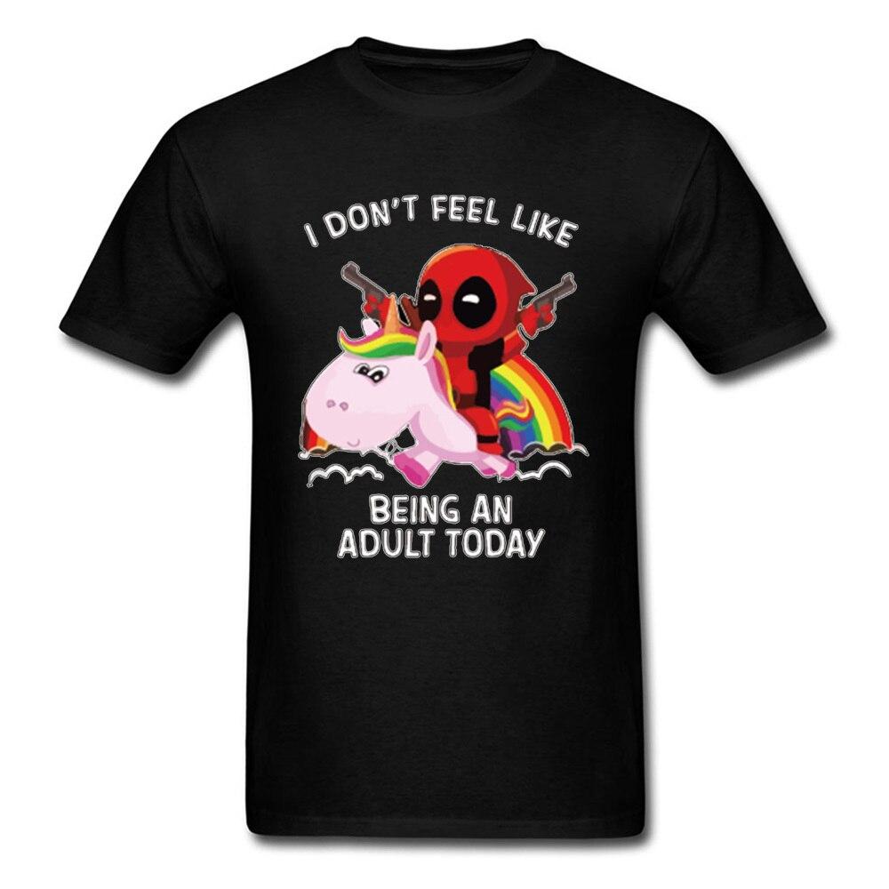 Deadpool T Shirt Men Marvel Designer T-shirt Avengers Rainbow Tops Tees Adult Mens Tshirt Black White Funny Clothing Cowboy Tees