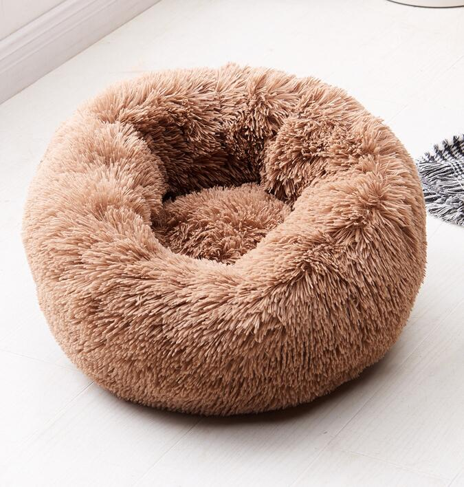 Calming Pet Bed for Cat or Small Dog Beds Beds Cats Dogs Color: Dark coffee Size: 100cm
