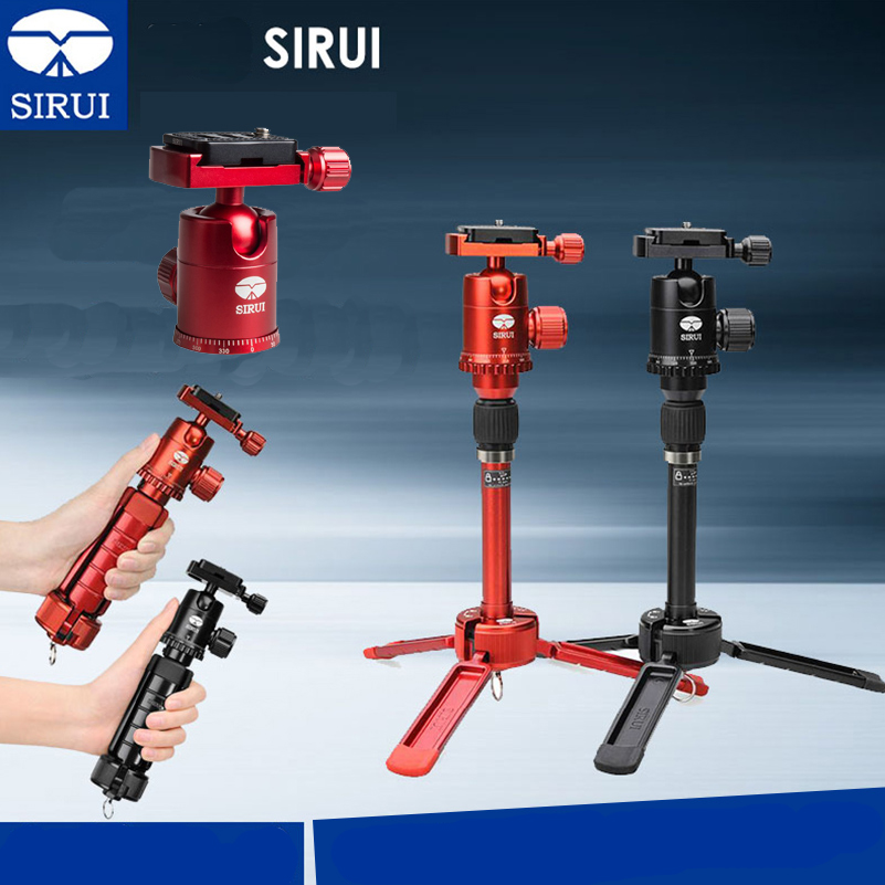 Sirui 3T-35 3T-35R Desktop Mini Tripod For Camera Aluminum Flexible Monopod For Phone Section Max Load 4kg DHL sirui a 1205 a1205 tripod professional carbon fiber flexible monopod for camera with y11 ball head 5 section free shipping