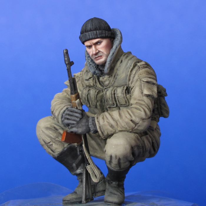 resin assembly Kits 1 35 Russian modern tank Chechnya sitting soldier Unpainted Kit Resin Model Free