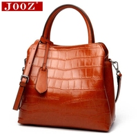 JOOZ Real leather handbags 2018 new autumn and winter soft leather large capacity ladies hand shoulder Messenger bag