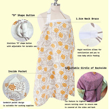 Cotton Breast Feeding Nursing Covers Baby Infant Breathable Nursing Apron Cotton Muslin Nursing Cloth Nursing Cape Feeding Cover