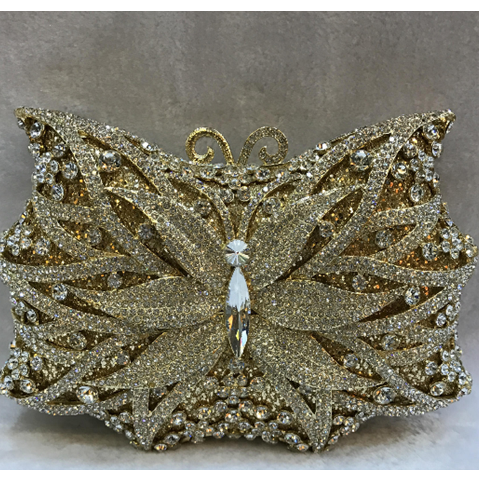 все цены на Gift Box Metal Minaudiere Clutch Silver Evening Crystal Handbags Women Socialite Party Prom Bag Bridal Clutches Wedding Purse