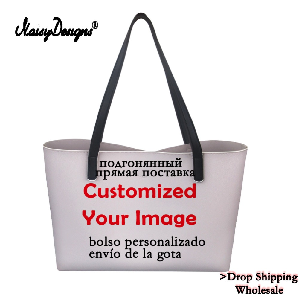 Noisydesigns 3D Customize Your Personalized Pattern Bags Drop Shipping Canvas Shopping Bag Women Large Handbags Tote Crossbody