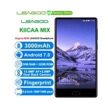 "LEAGOO KIICAA MIX Smartphone 5.5 ""Inch Android 7.0 MTK6750T Octa Core Mobilephone 3 GB RAM 32 GB ROM Front vingerafdruk Mobiel"