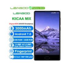 "LEAGOO KIICAA לערבב Smartphone 5.5 ""אינץ אנדרואיד 7.0 MTK6750T אוקטה Core Mobilephone 3 GB זיכרון RAM 32 GB ROM קדמי טביעת אצבע נייד"