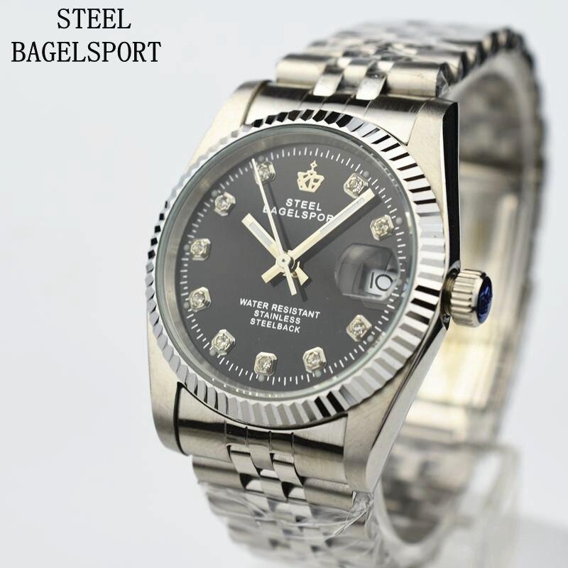 Uhren Voller Luxus Stahl Mechanische Herrenuhr Klassische Marke Stil Automatische Us57 19Off steelbagelsport Uhr Herren Wasserdichte Strass Top 7 X8NZ0OPknw