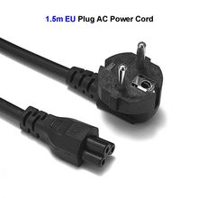 цена на EU AC Power Cord 2 Prong Notebook Laptop AC Adapter Power Extension Cable 1.5m 5FT 0.75 SQ.MM2