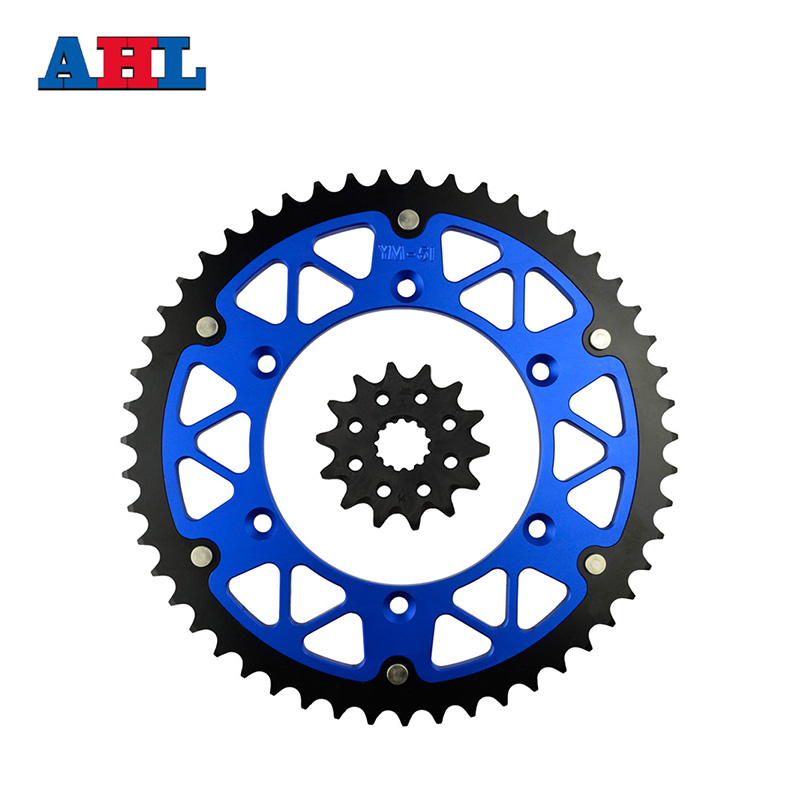 Motorcycle Parts 51-14 T Front & Rear Sprockets Kit For YAMAHA WR450F WR 450F WR450 WR 450 F 2003-2014 Gear Fit 520 Chain