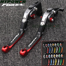 For Honda FORZA 300 125 250 2010-2019 2018 Adjustable Foldable Extending Brake Clutch Levers Handle Bar Motorcycle Accessories(China)