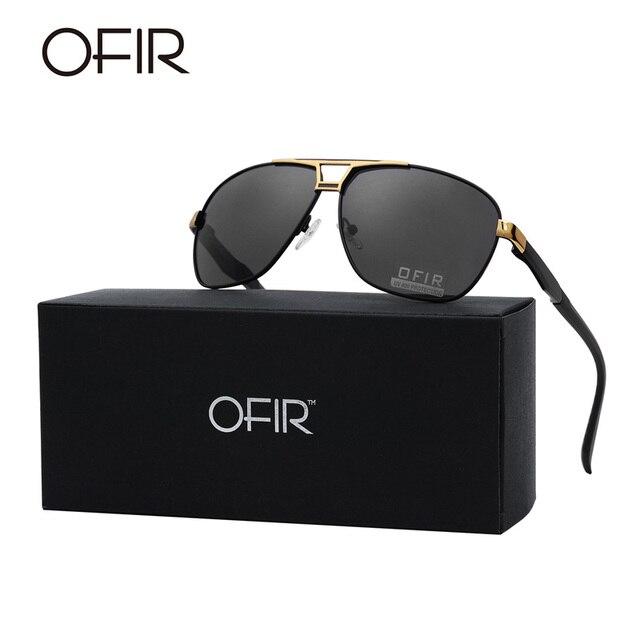 f8329f11fb OFIR Aviator Polarized Sunglasses Men Women Brand Designer Driving Fishing  Sun Glasses Black Frame UV400 Oculos De Sol