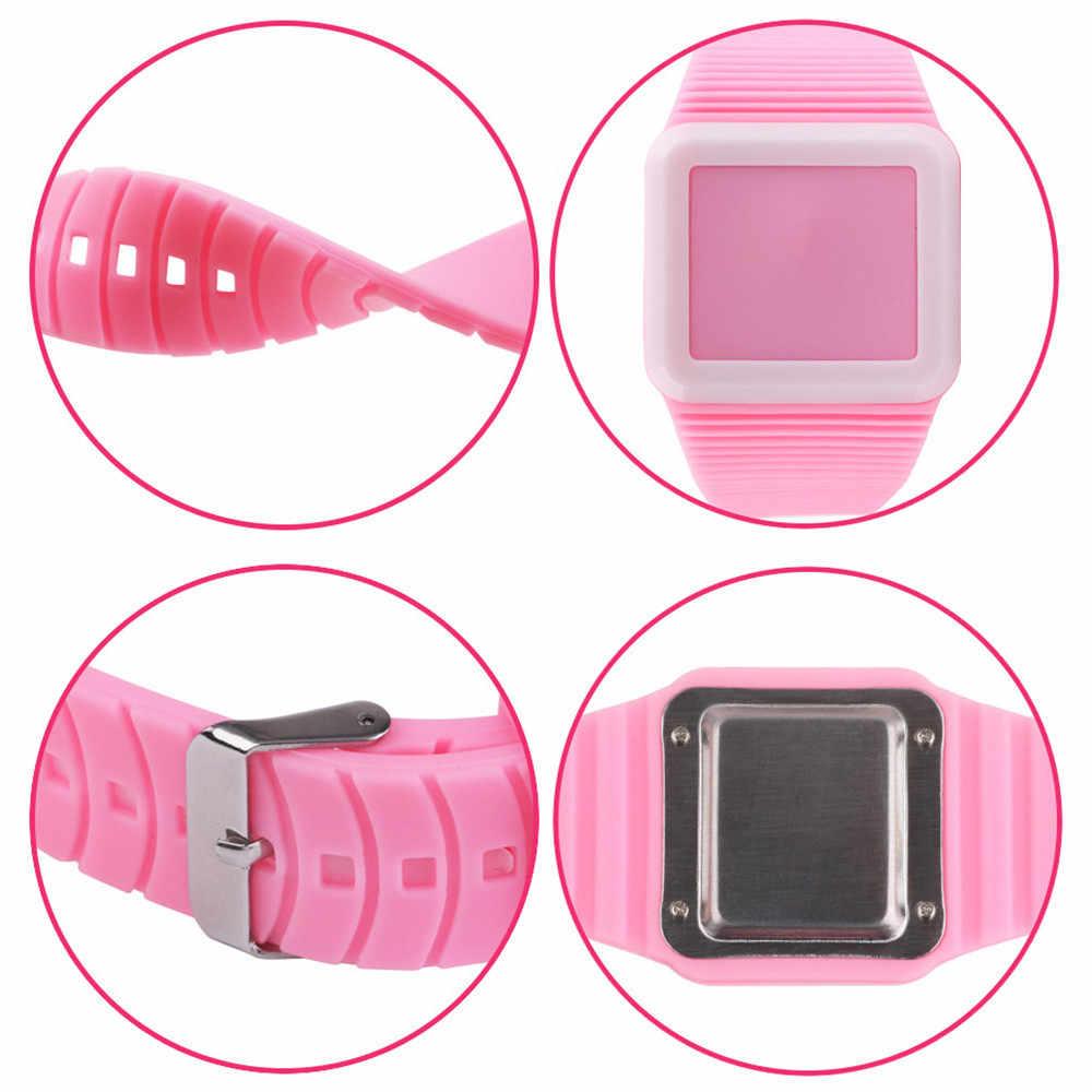 GEMIXI אלקטרוני דיגיטלי שעון LED סיליקון ילדי שעון שעוני יד צמיד לילדים ילדים דיגיטלי שעוני יד